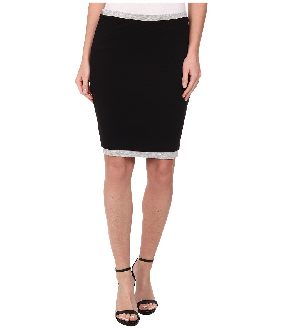 Three Dots - Two Toned Skirt (Black/Granite) Women's Skirt