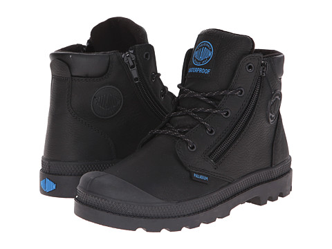 Palladium Kids - Pampa Hi Cuff Waterproof (Little Kid) (Black) Boys Shoes