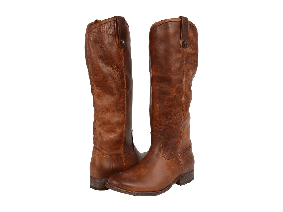 Frye - Melissa Button Boot Extended (Cognac Extended Calf) Cowboy Boots