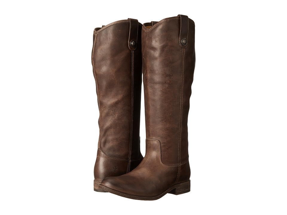 Frye Melissa Button Boot Extended (Slate Extended Calf) Cowboy Boots