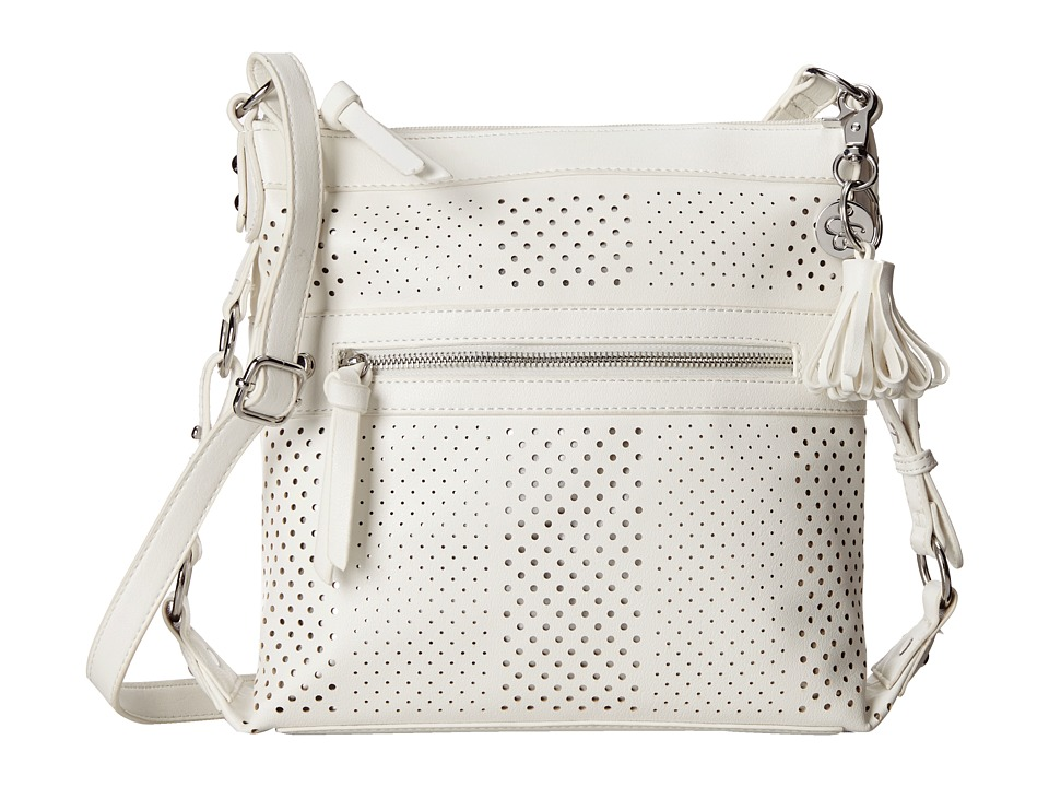 Jessica Simpson - Paige Crossbody (White/Silver) Cross Body Handbags