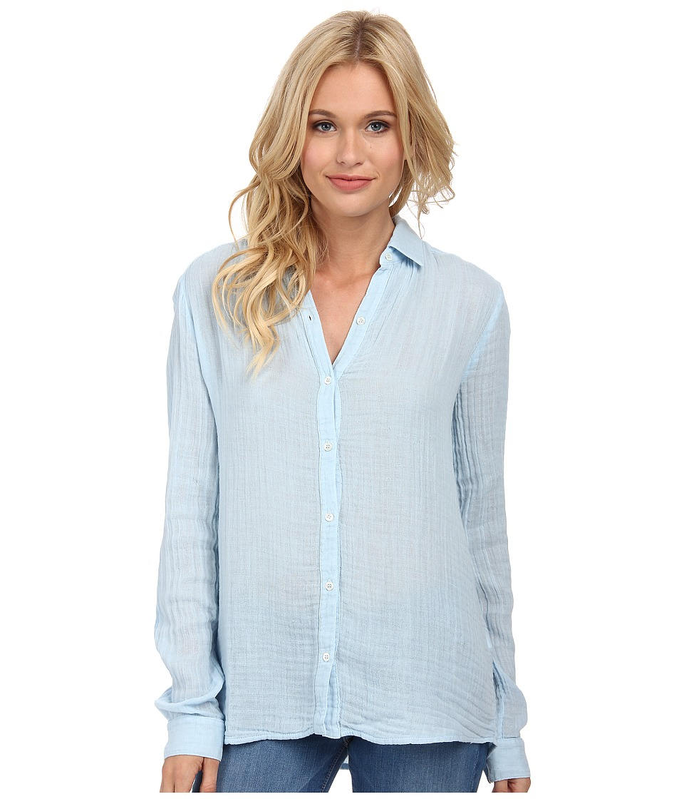 Three Dots - Long Sleeve Shirt (Chambray 2) Women's Long Sleeve Button Up