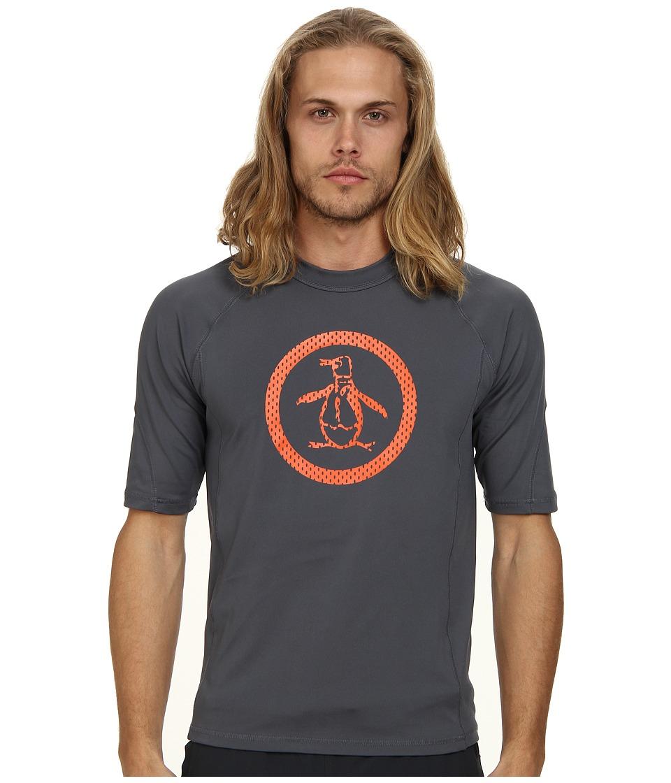 Original Penguin - Mesh Printed Circle Rashguard (Turbulence) Men's Swimwear