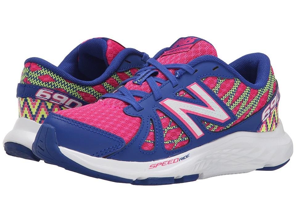 New Balance Kids - 690v4 (Little Kid/Big Kid) (Pink/Optic Blue) Girls Shoes