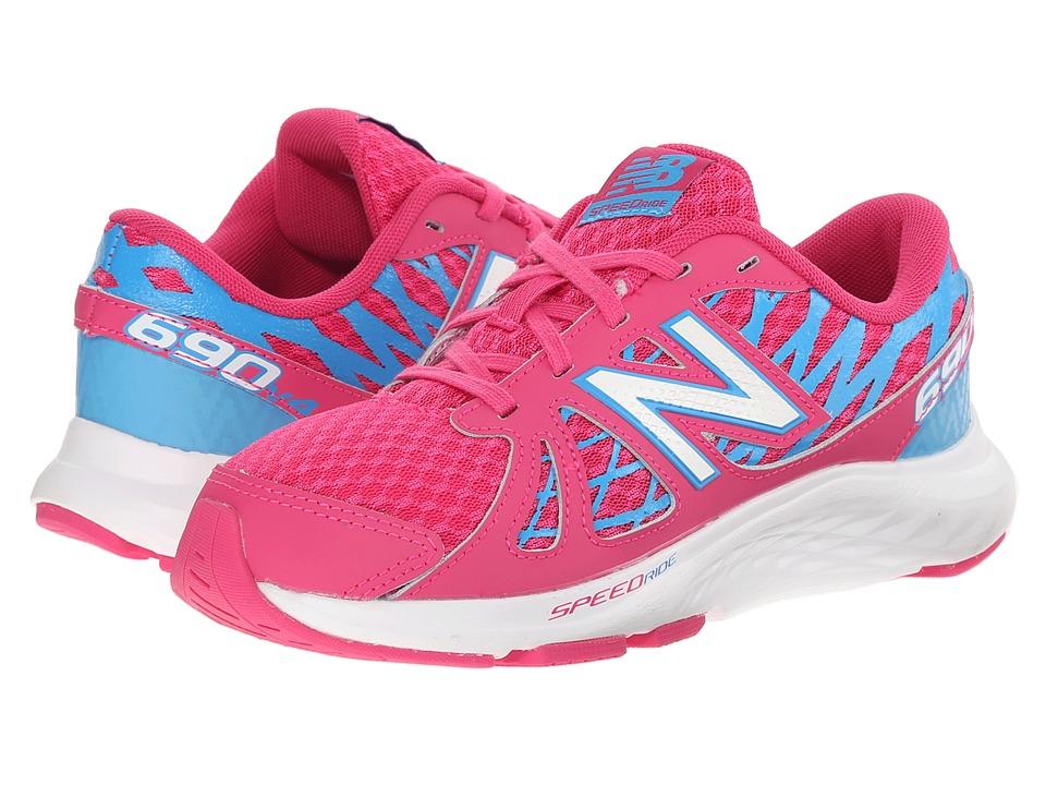 New Balance Kids - 690v4 (Little Kid/Big Kid) (Pink/Blue) Girls Shoes