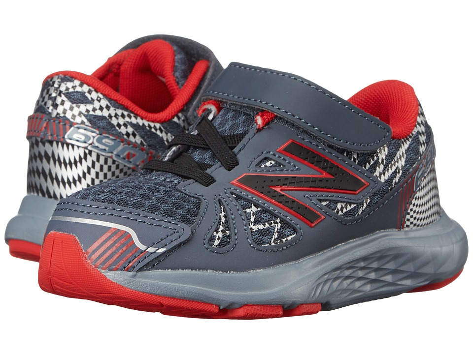 New Balance Kids 690v4 (Infant/Toddler) (Grey/Red) Boys Shoes