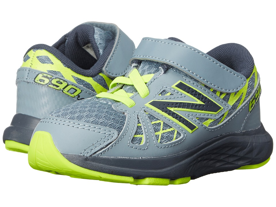 New Balance Kids - 690v4 (Infant/Toddler) (Grey/Yellow) Boys Shoes