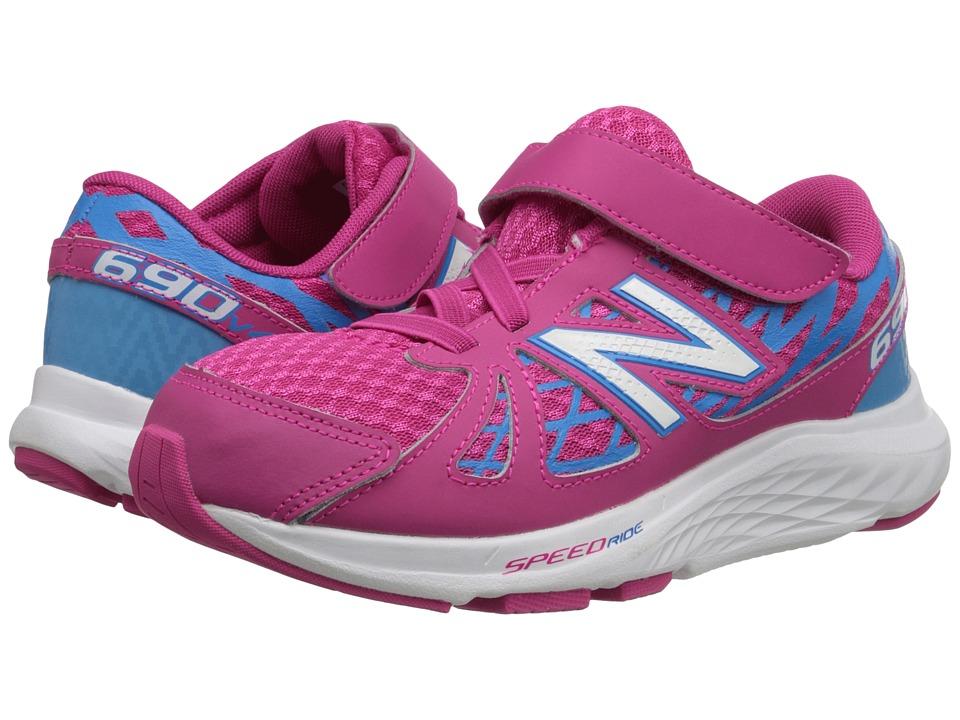 New Balance Kids - 690v4 (Little Kid) (Pink/Blue) Girls Shoes