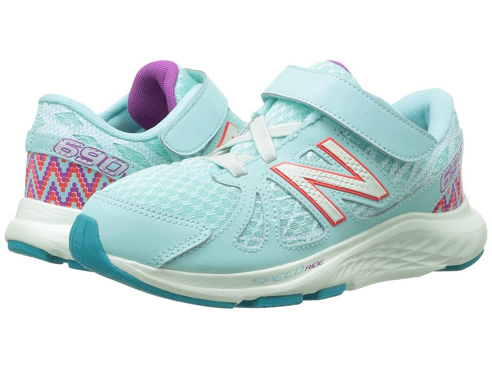 New Balance Kids - 690v4 (Little Kid) (Blue/Purple) Girls Shoes