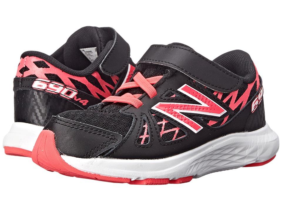New Balance Kids - 690v4 (Infant/Toddler) (Black/Pink) Girls Shoes