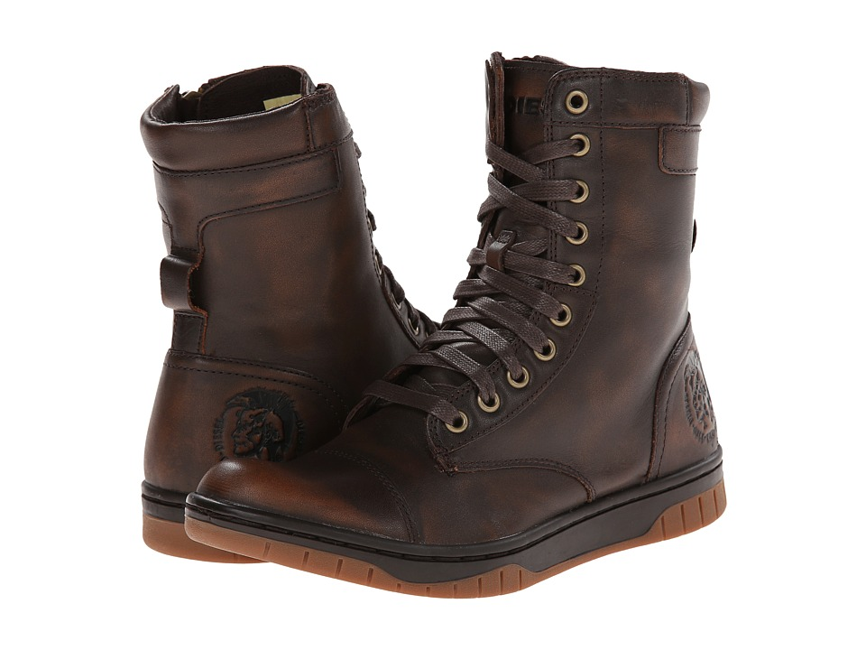 Diesel - Tatradium Basket Butch Zippy (Coffee Bean) Men's Shoes