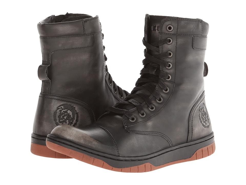 Diesel - Tatradium Basket Butch Zippy (Black/Rustic Brown) Men's Shoes