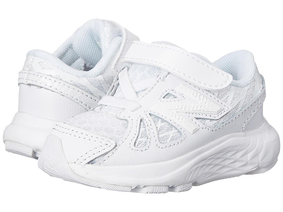 New Balance Kids - 690v4 (Infant/Toddler) (White/White) Kids Shoes