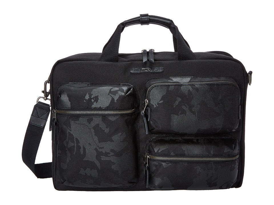 Tumi - Dalston Tyssen Double Zip Brief (Black Camo) Briefcase Bags