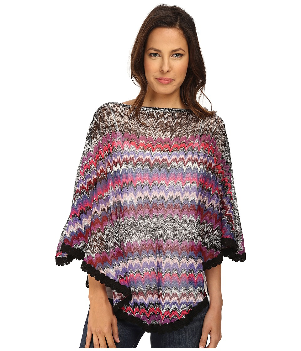 Missoni - POW1CMD4884 (Blue/Pink) Women's Long Sleeve Pullover