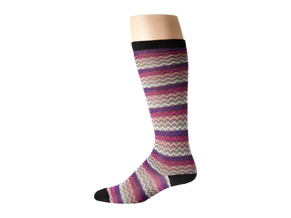 Missoni - GM00CMD4933 (Purple) Men's Knee High Socks Shoes