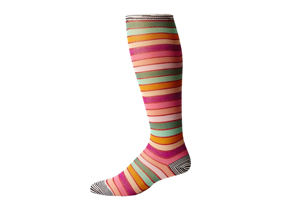 Missoni - GM00CMD4935 (Pink/Green) Men's Knee High Socks Shoes