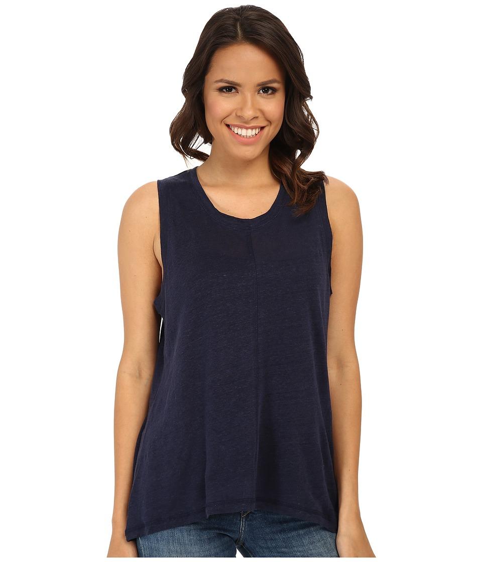 BB Dakota - Laigh Knit Top (Navy) Women's Sleeveless