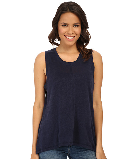 BB Dakota - Laigh Knit Top (Navy) Women's Sleeveless