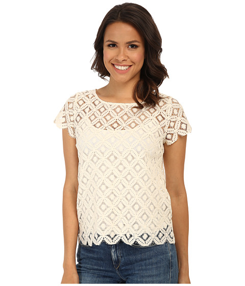 BB Dakota - Samie Woven Top (Ivory) Women's Blouse