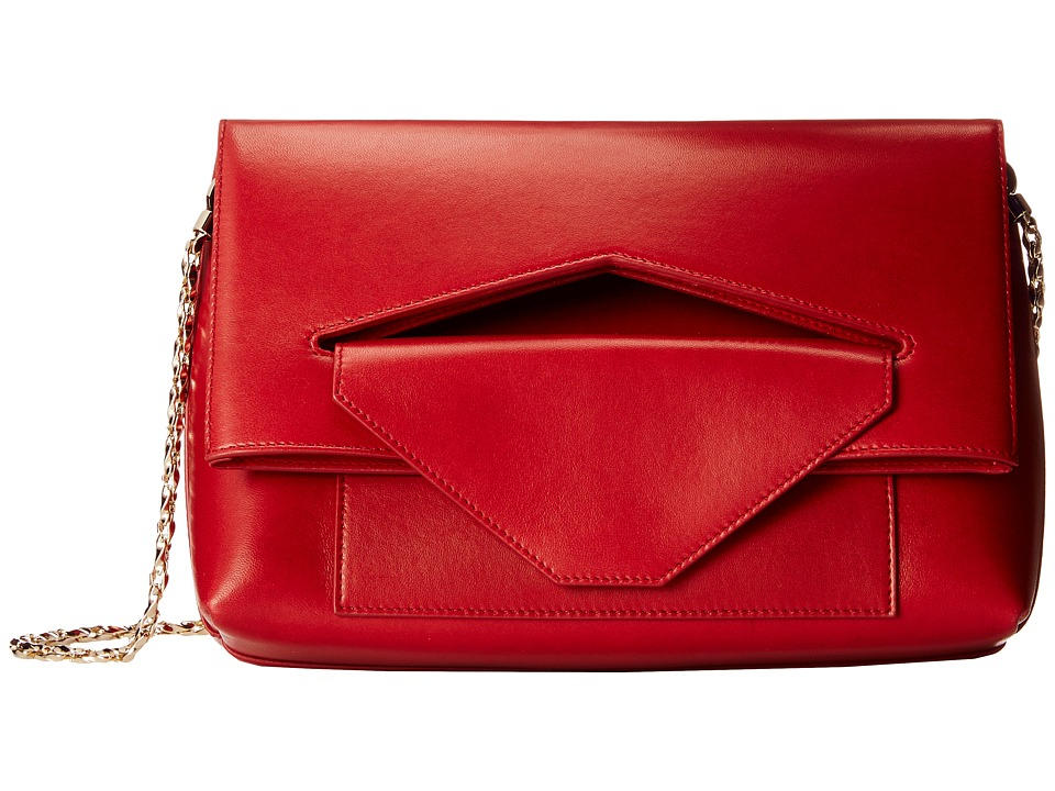 Oscar de la Renta - Grace Shoulder Bag (Claret) Shoulder Handbags