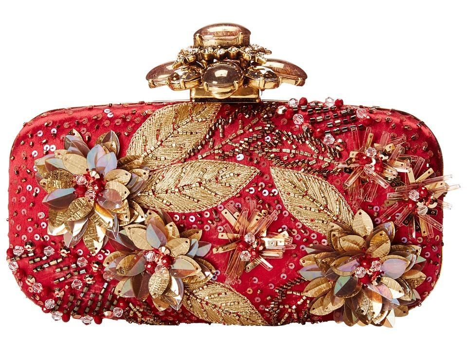 Oscar de la Renta - Cabochon Goa (Claret) Clutch Handbags