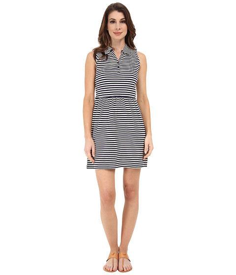 Dockers Misses - Pique Dress (Oatmeal/Deep Navy) Women's Dress