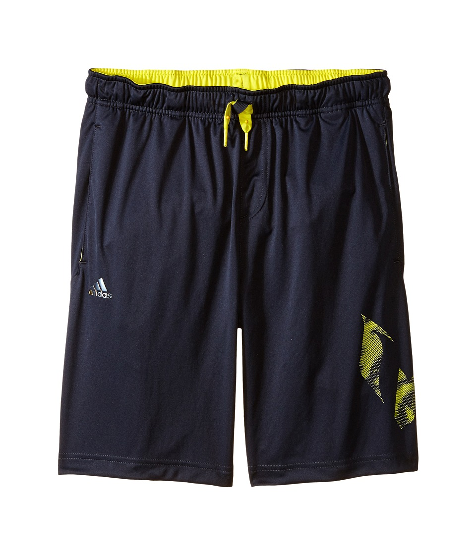 adidas Kids - Messi Q4 Knit Shorts (Little Kids/Big Kids) (Night Grey) Boy's Shorts