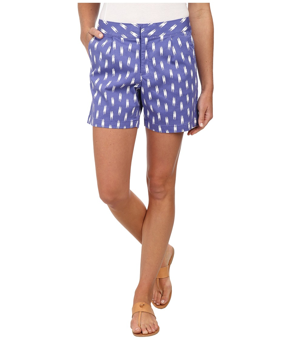 Dockers Misses - Pleated Front Shorts (Ikat Print) Women's Shorts