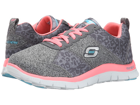 SKECHERS - Flex Appeal (Gray Navy Pink) Women