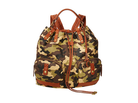 Lucky Brand - Carly Waxed Canvas Backpack (Army Camo) Backpack Bags