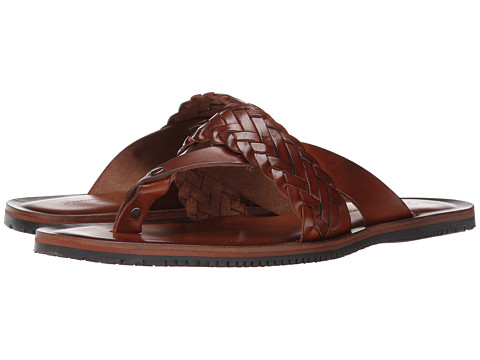 Massimo Matteo - Thong Braided Sandal (Tan) Men