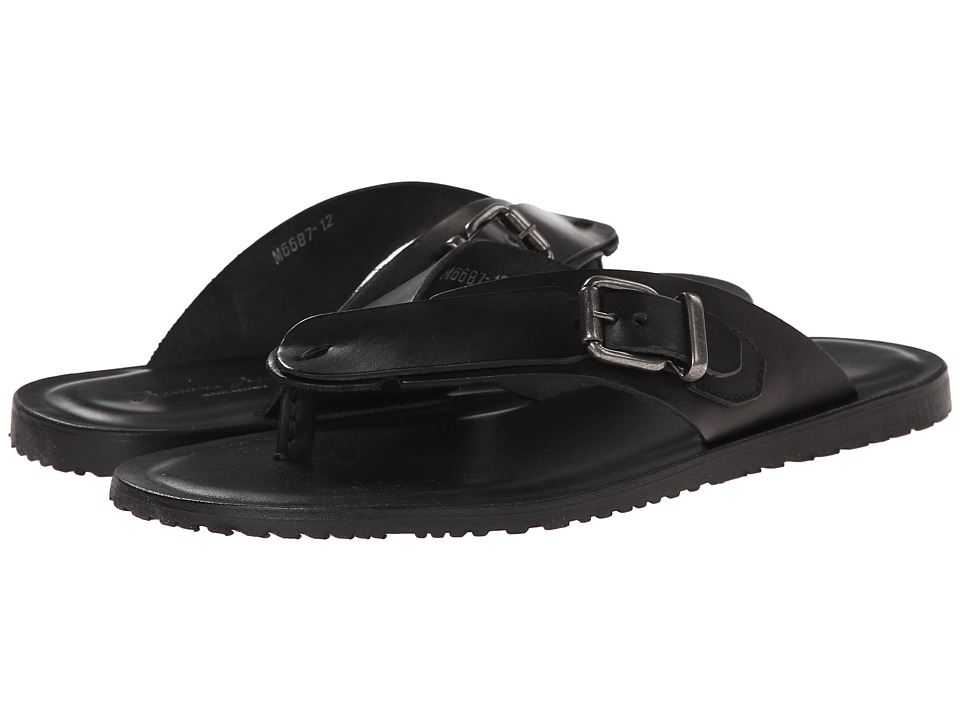 Massimo Matteo - Buckle Thong (Black) Men's Dress Sandals