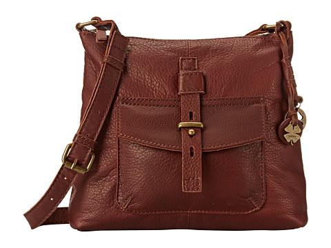 Lucky Brand - Medine Top Zip Crossbody (Brandy) Cross Body Handbags