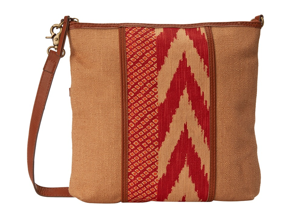 Lucky Brand - Kendal Flap Crossbody (Sand/Pomegrante) Cross Body Handbags