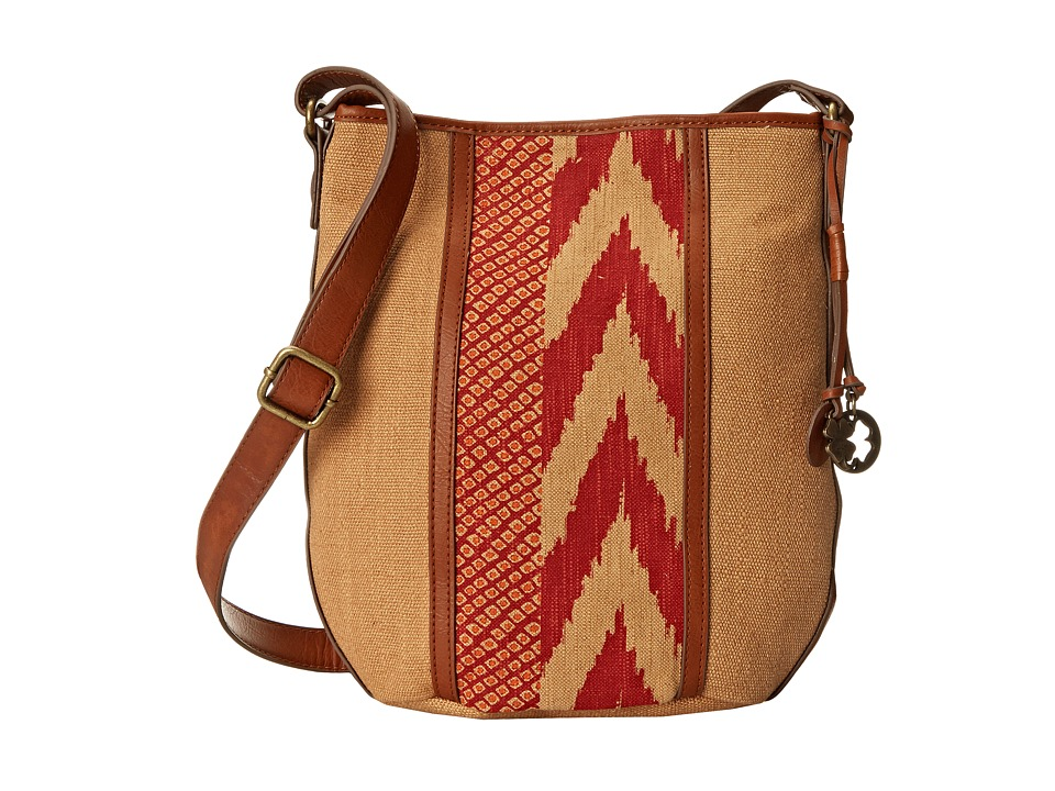 Lucky Brand - Kendal Crossbody Bucket (Sand/Pomegrante) Cross Body Handbags