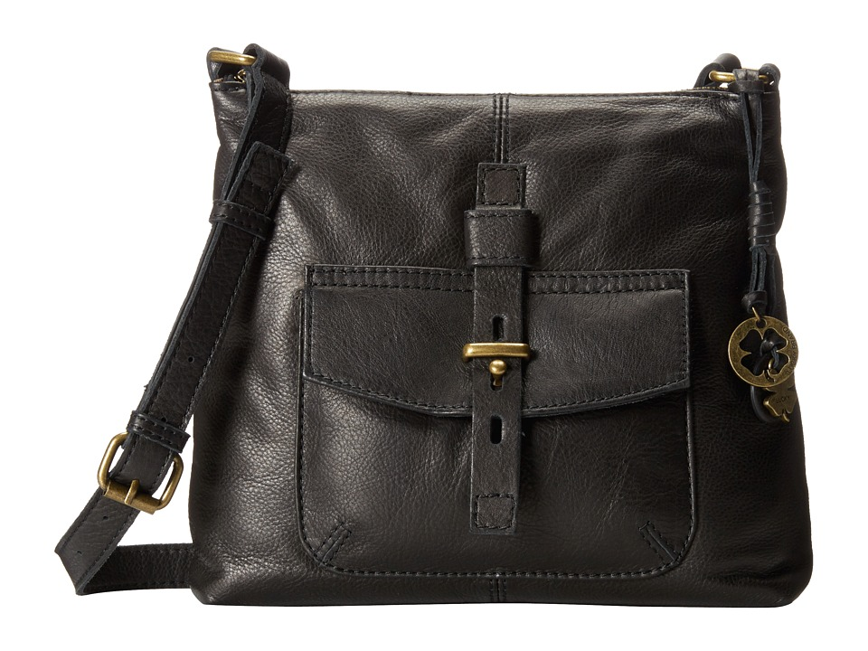 Lucky Brand - Medine Top Zip Crossbody (Black) Cross Body Handbags