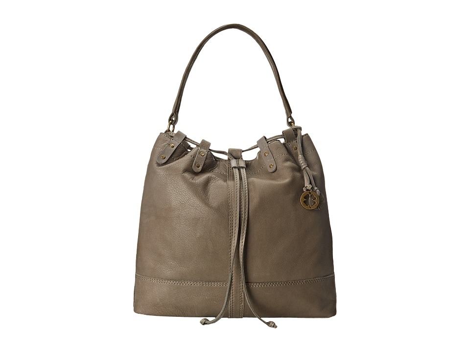 Lucky Brand - Carly Leather Bucket (Fog) Handbags