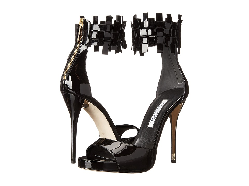 Oscar de la Renta - Elin 115mm (Black Patent Leather) High Heels