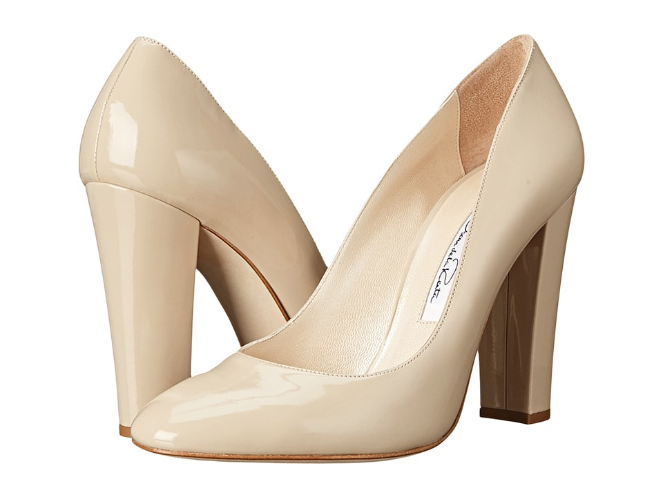 Oscar de la Renta - Dafne 100mm (Khaki Patent Leather) High Heels