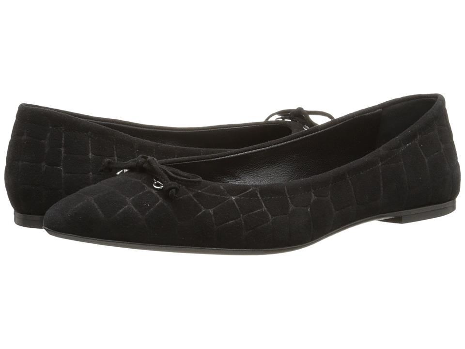 Oscar de la Renta - Aiden 10mm (Black Crocodile Print Leather) Women