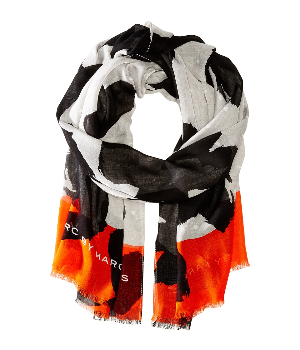Marc by Marc Jacobs - Paint Splashed Flower Scarf (Microchip Multi) Scarves