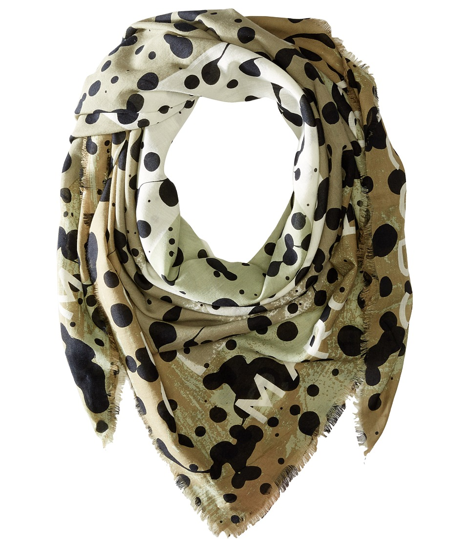 Marc by Marc Jacobs - Concentric Square Scarf (Safari Multi) Scarves