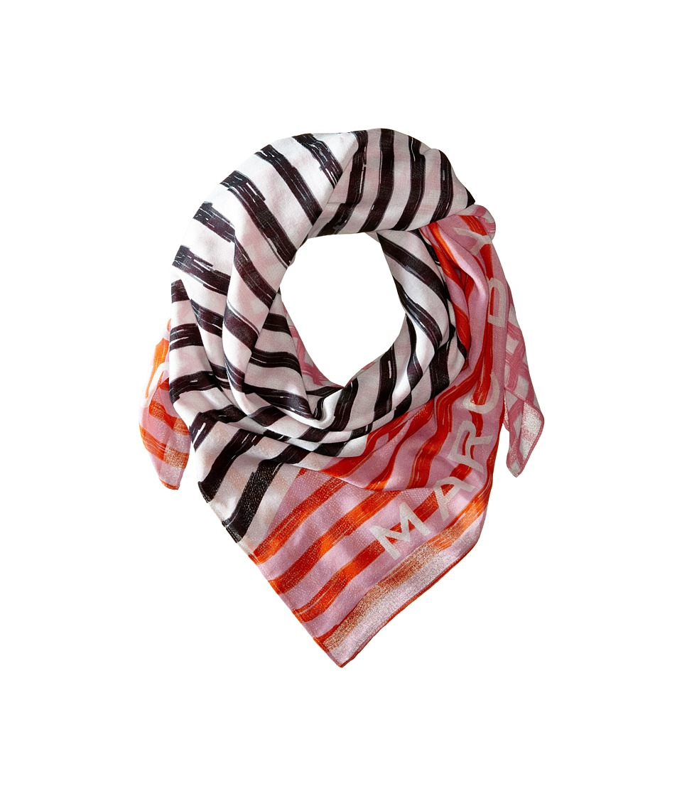 Marc by Marc Jacobs - Stripe Mash Up Scarf (Hysop Pink Multi) Scarves