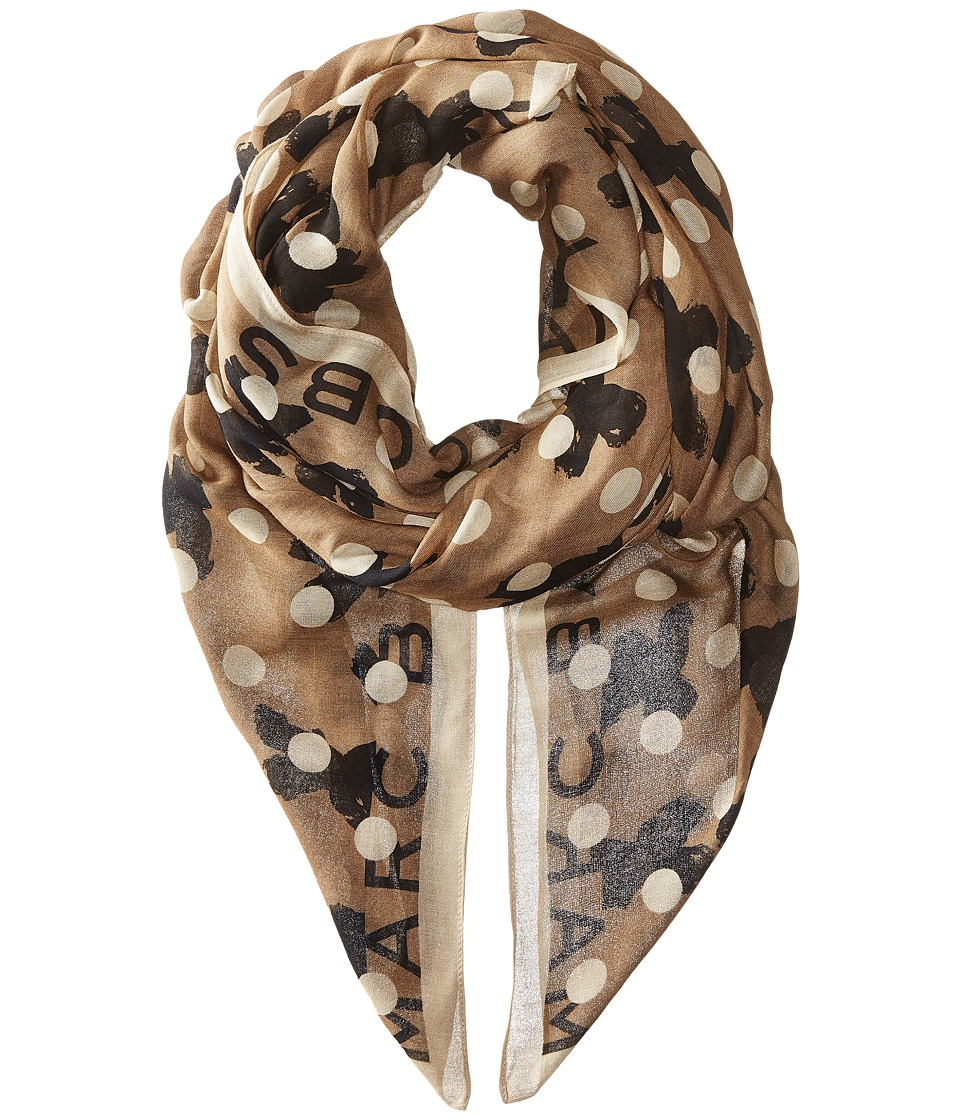 Marc by Marc Jacobs - Dotty Flora Scarf (Granite Multi) Scarves