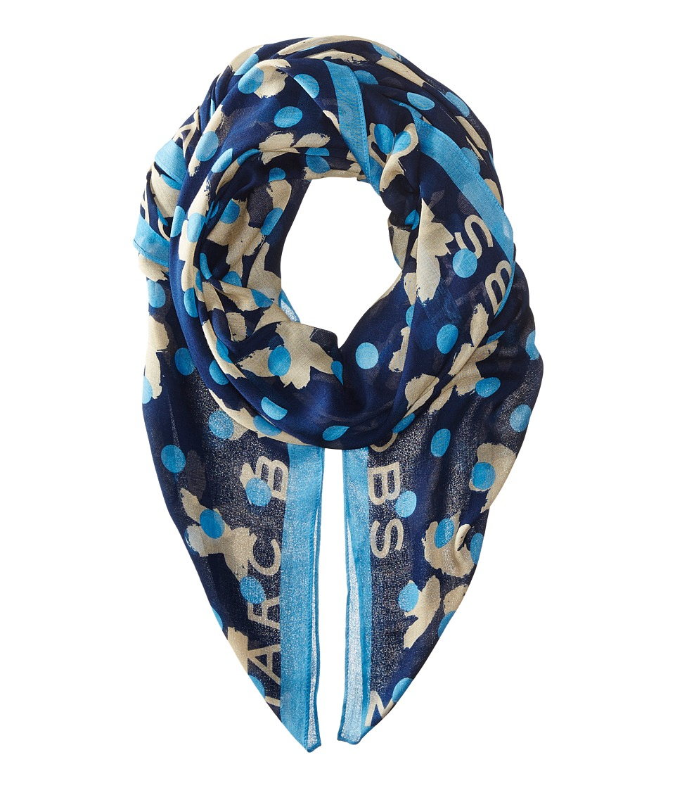 Marc by Marc Jacobs - Dotty Flora Scarf (Dark Ocean Multi) Scarves