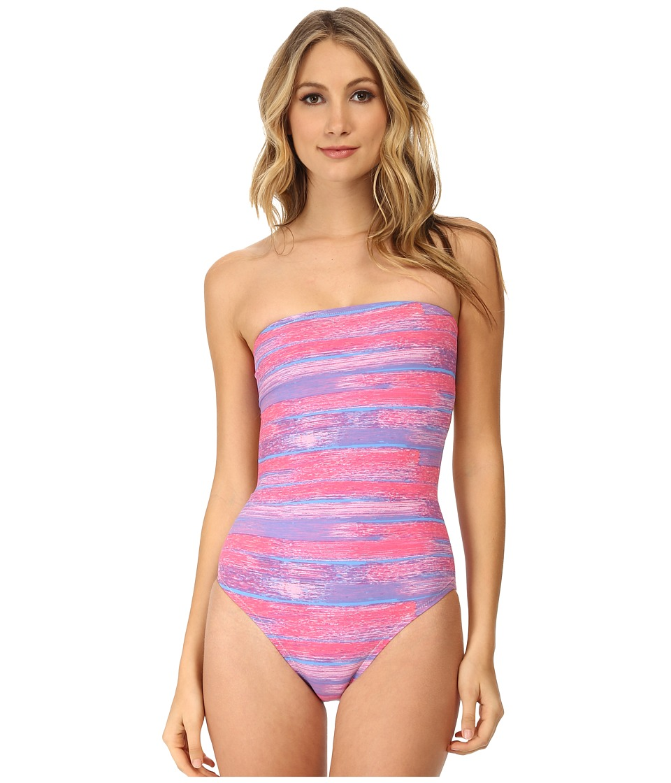 Marc by Marc Jacobs - Lily Strapless Monokini (Pale Maraschino Multi) Women's Swimsuits One Piece