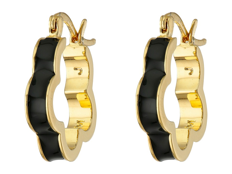 Marc by Marc Jacobs - Diamonds and Daisies Colored Daisy Window Mini Hoop Earrings (Black) Earring