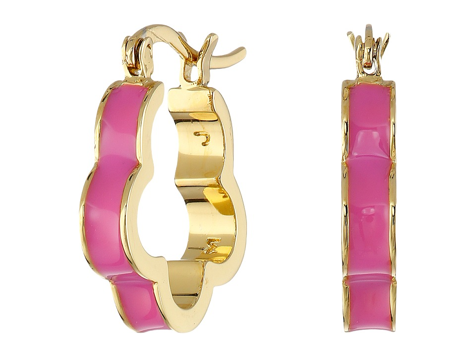Marc by Marc Jacobs - Diamonds and Daisies Colored Daisy Window Mini Hoop Earrings (Knock Out Pink) Earring