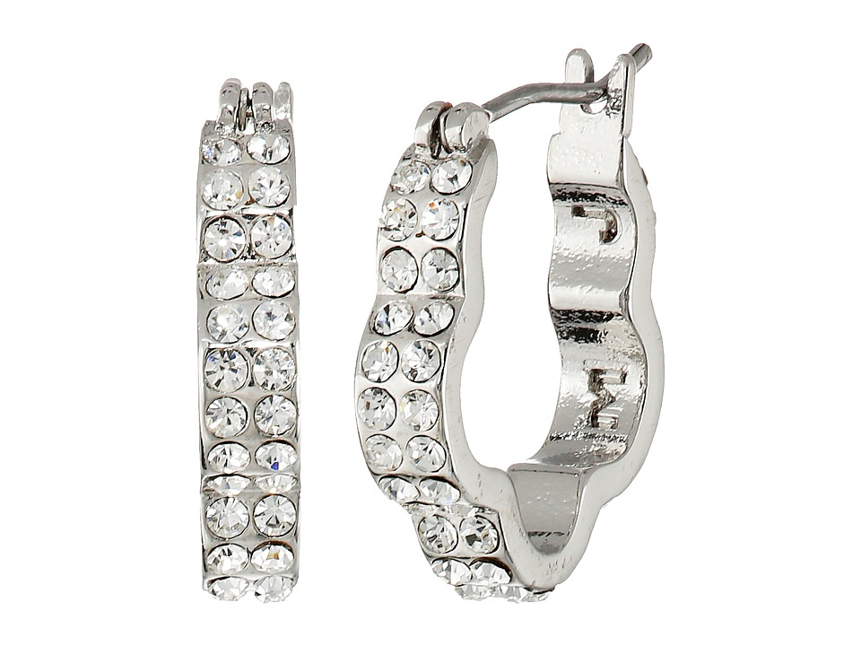 Marc by Marc Jacobs - Diamonds and Daisies Daisy Window Mini Hoops Earrings (Crystal/Argento) Earring